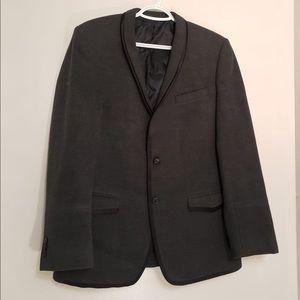 Crafted Dark Grey Collared Dual Sleek Button Coat